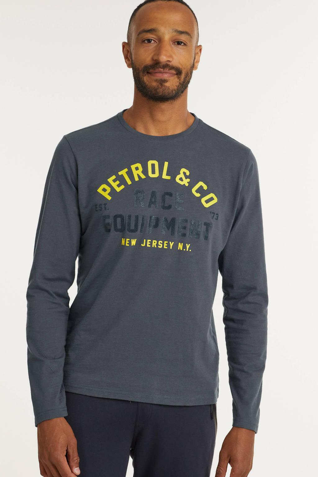 Petrol Industries longsleeve met logo raven grey, Raven Grey