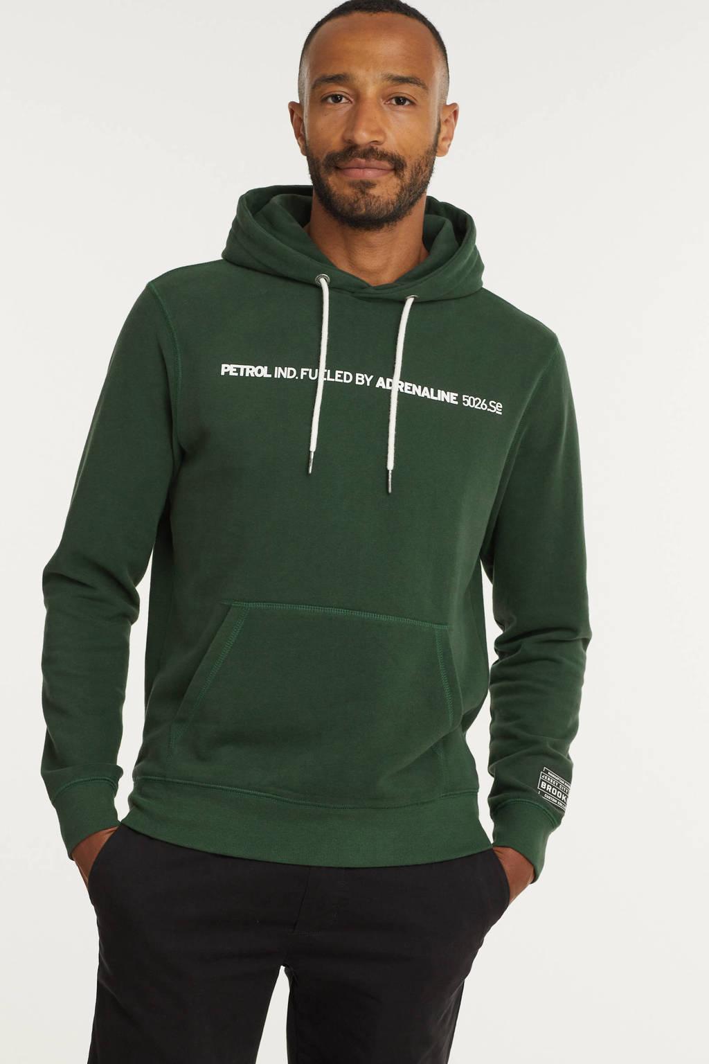 Petrol Industries hoodie met tekst bottle