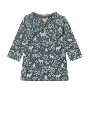 baby jurk Salisbury met all over print donkergroen