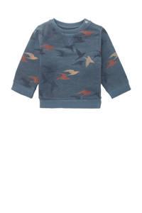 Noppies baby sweater Ramadi met all over print zeeblauw, Zeeblauw