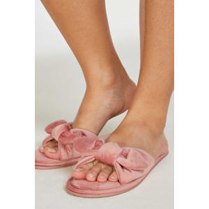 velours huisslippers Knot oudroze