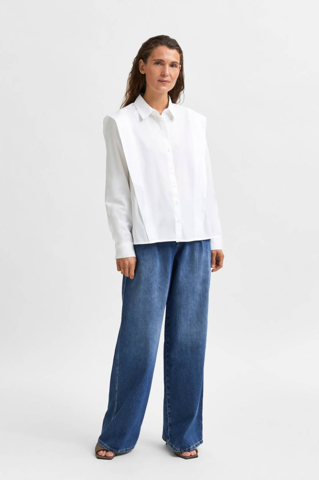 SELECTED FEMME blouse SLFBELLO wit, Wit