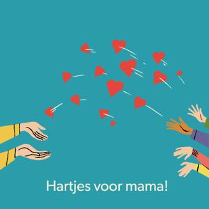 Digitale Cadeaukaart hartjes voor mama 25 euro