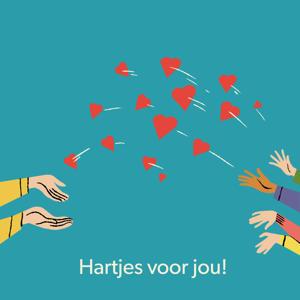 Digitale Cadeaukaart hartjes voor jou 25 euro