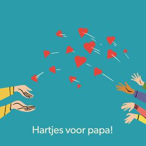 Digitale Cadeaukaart hartjes voor papa 100 euro