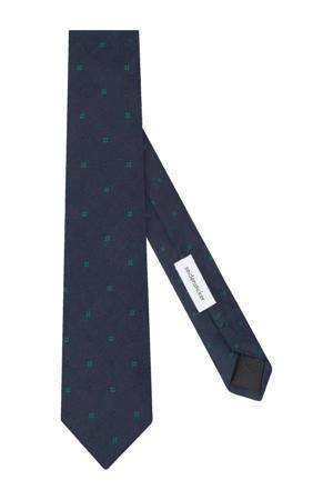zijden stropdas donkerblauw