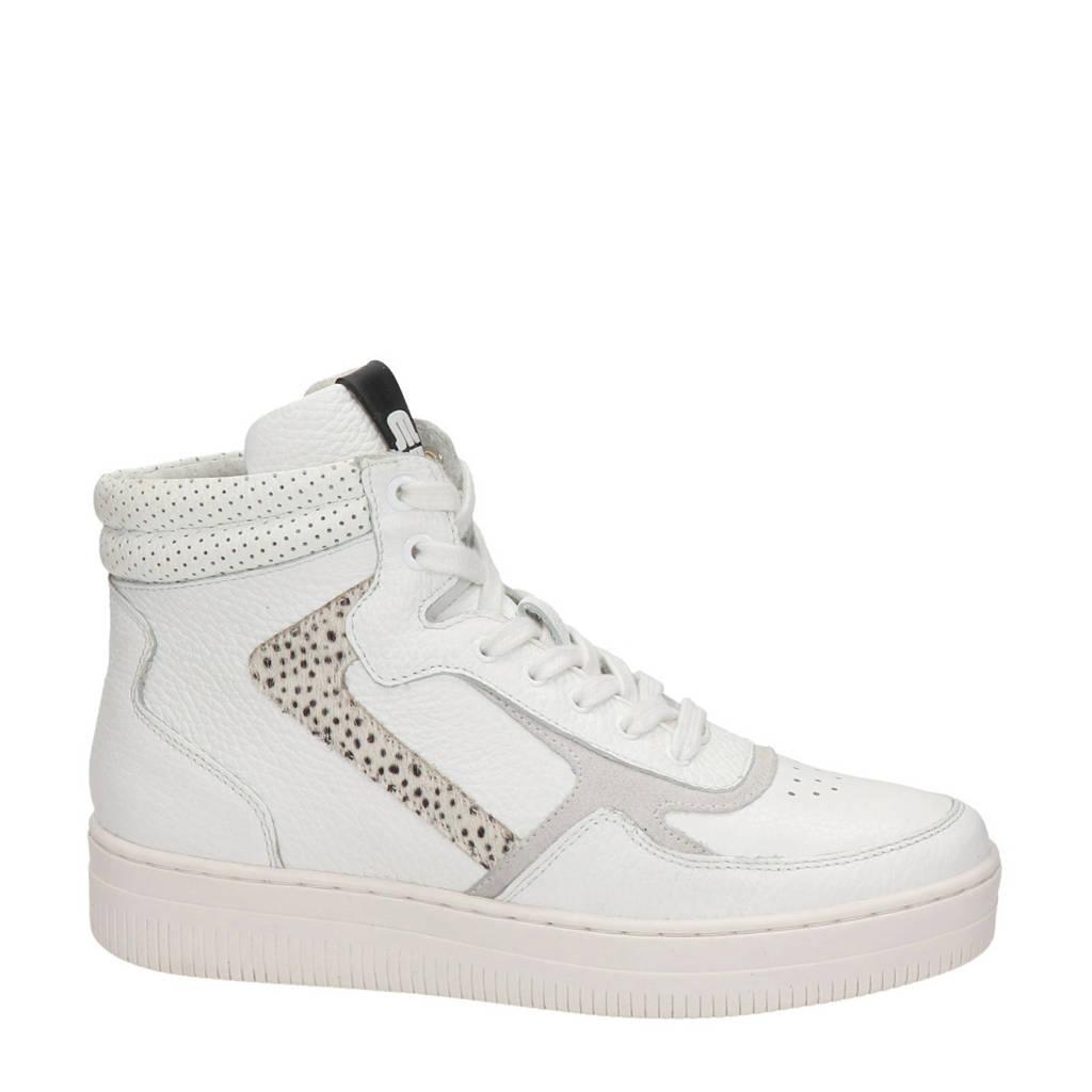 Maruti Mona  hoge leren sneakers wit, Wit