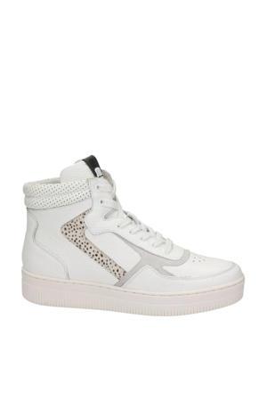 Mona  hoge leren sneakers wit