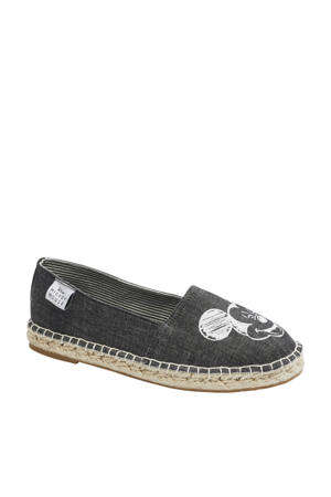 Mickey Mouse  espadrilles zwart/wit