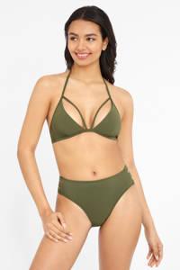 Lascana cut-out bikinibroekje olijfgroen, Olijfgroen