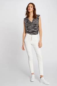 Morgan cropped slim fit jeans ecru, Ecru