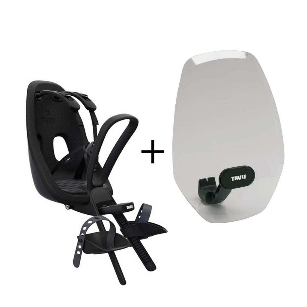 Thule Yepp  Nexxt Mini fietsstoeltje voor+windscherm, obsedian, Obsedian