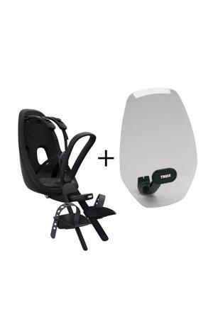 Nexxt Mini fietsstoeltje voor+windscherm, obsedian
