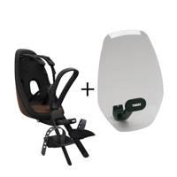 Thule Yepp  Nexxt Mini fietsstoeltje voor+windscherm, chocolate brown, Chocolate brown