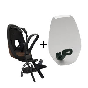 Nexxt Mini fietsstoeltje voor+windscherm, chocolate brown