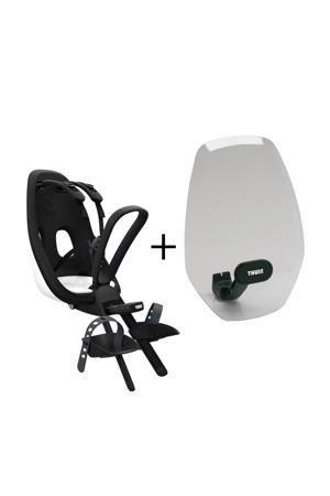 Nexxt Mini fietsstoeltje voor+windscherm, snow white