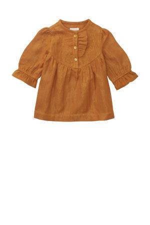 gestreepte baby jurk Sheridan okergeel
