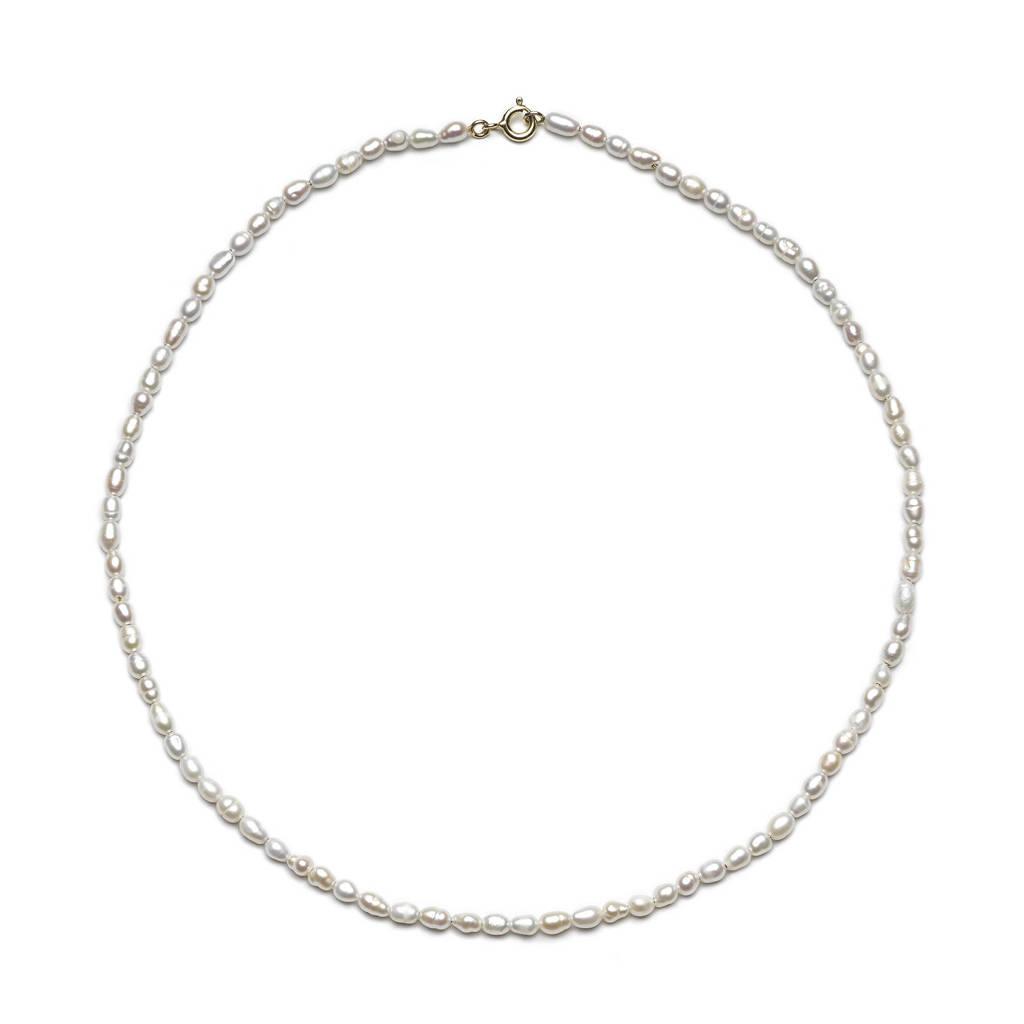 Abrazi verguld zilveren ketting Always, Goudkleurig