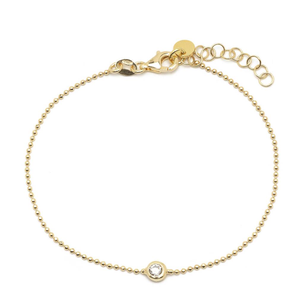 Abrazi verguld zilveren armband Dainty, Goudkleurig
