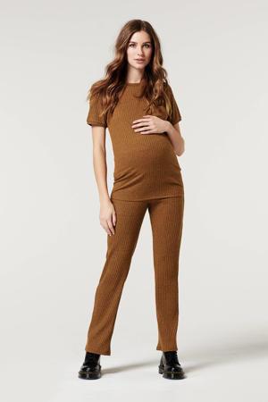 regular fit zwangerschapspantalon bruin