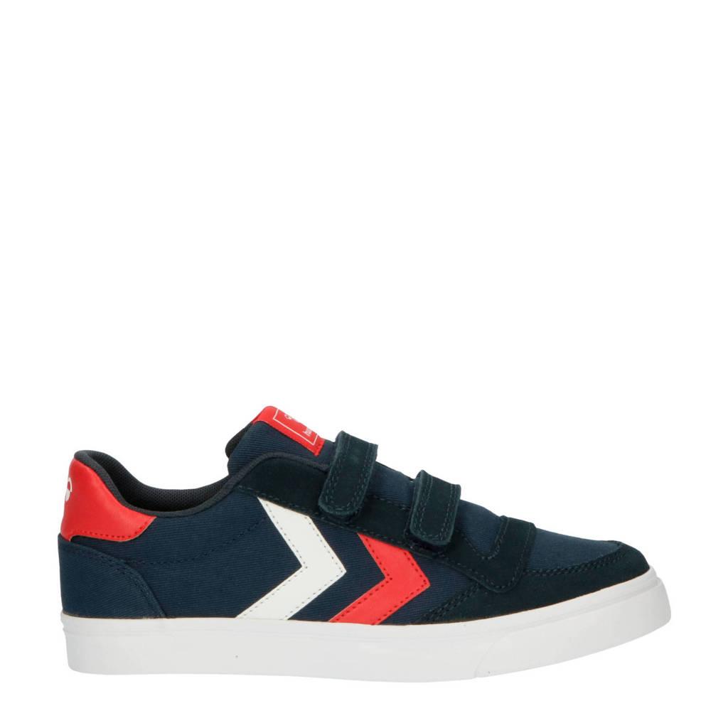 hummel Stadil Low Jr.  sneakers donkerblauw/rood/wit, Donkerblauw/rood/wit