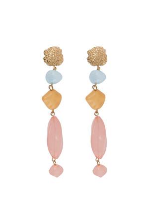 oorbellen Marcy roze/blauw