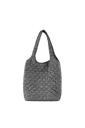shopper PCFALULA met panterprint grijs