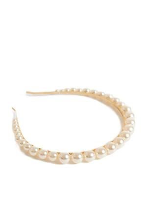 haarband met parels VIHAI goudkleurig