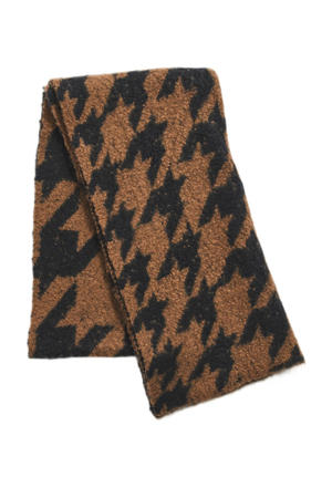 sjaal VIELLA bruin/zwart