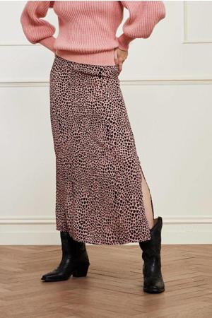 midi rok Laurie Isa  met hartjes roze/zwart