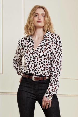 blouse Cato met all over print wit/zwart