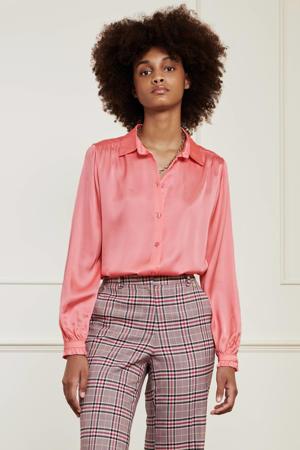blouse Mira Boho  met ruches lovely pink