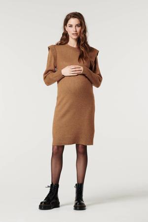 zwangerschapsjurk bruin
