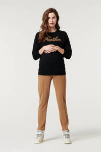 Supermom zwangerschapssweater met tekst zwart, Zwart