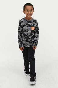 Ellos longsleeve Trey met camouflageprint grijs/zwart, Grijs/zwart