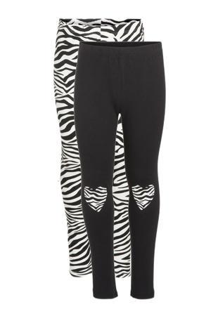 legging - set van 2 zwart/wit