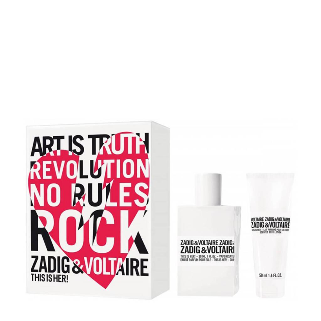 Zadig & Voltaire THIS IS HER! Eau de Toilette spray 30 ml + bodylotion 50 ml