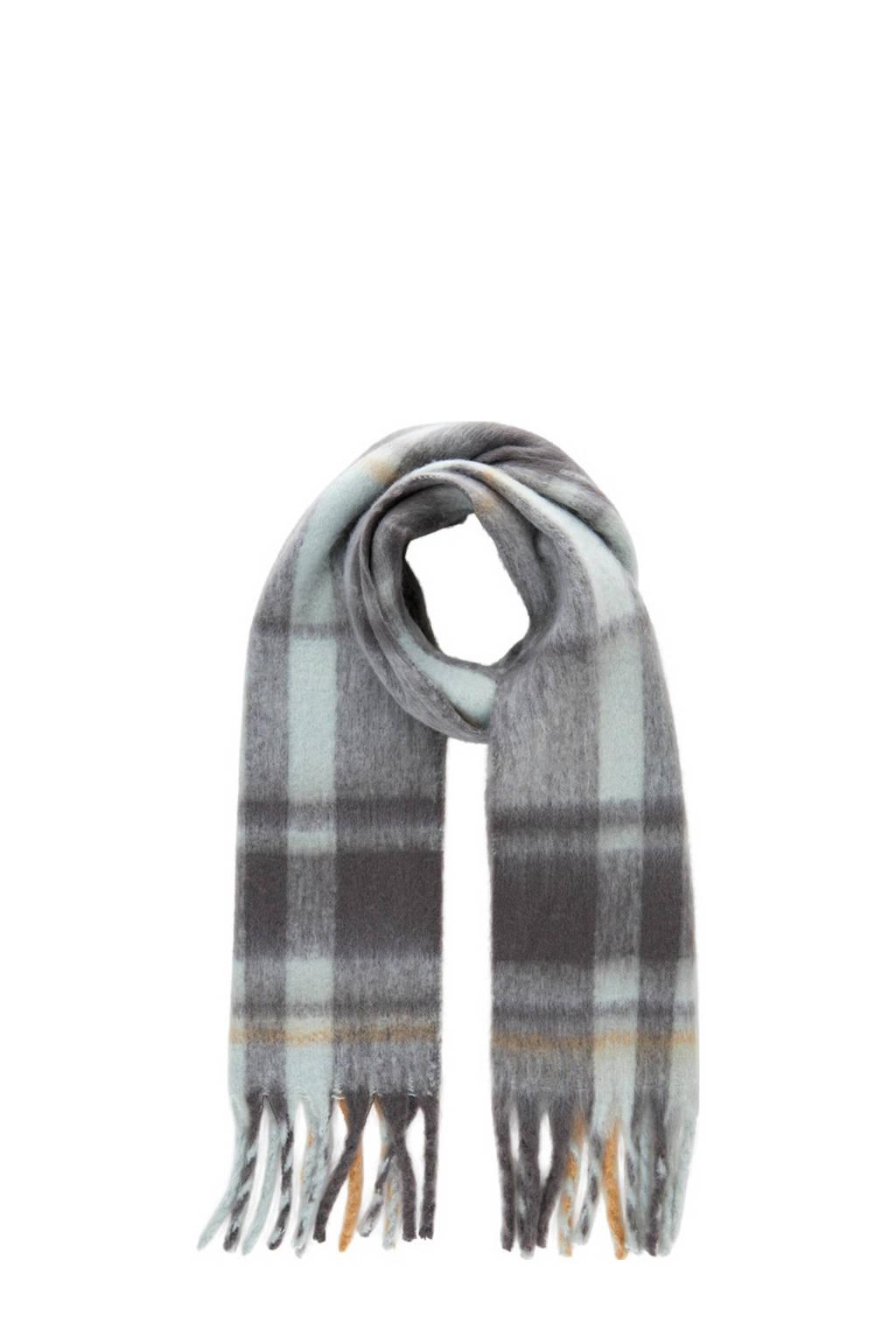PIECES geruite sjaal PCFRANJA lichtblauw/grijs, Lichtblauw/grijs