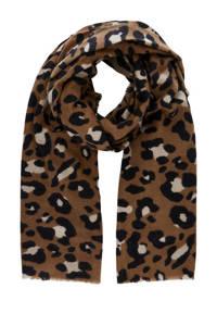 PIECES sjaal PCFRANSISCA met panterprint bruin, Bruin