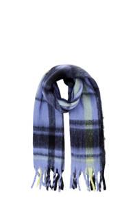 PIECES geruite sjaal PCFRANJA blauw/donkerblauw, Blauw/donkerblauw