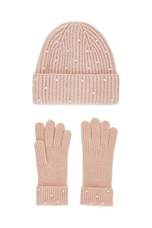 giftbox PCEXY muts + handschoenen lichtroze