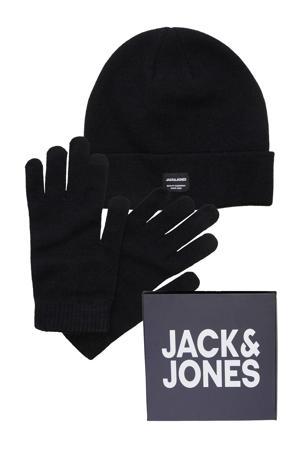 giftbox muts + handschoenen zwart