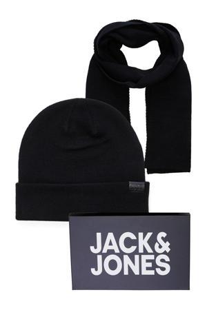 giftbox JACJOLLY muts + sjaal zwart