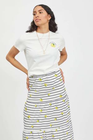 T-shirt VIPURE met printopdruk wit