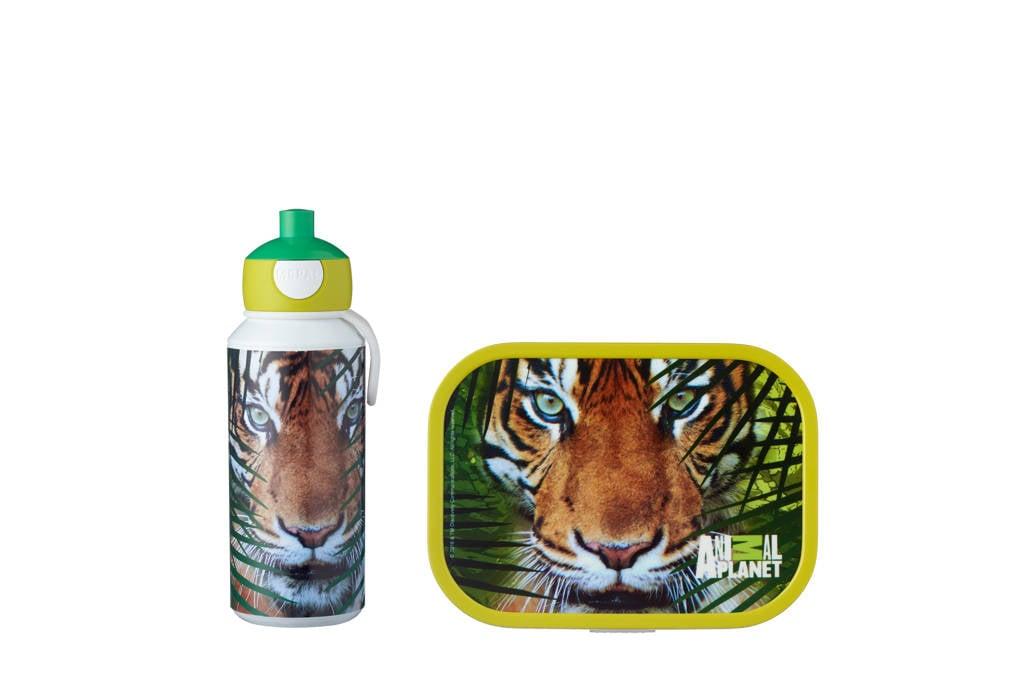 Mepal campus broodtrommel Animal planet Tiger, Groen