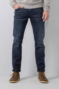 Petrol Industries slim fit jeans SEAHAM-TRACKER met riem blue black, Blue black