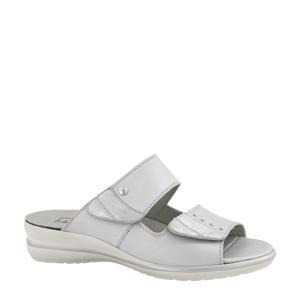 comfort leren slippers grijs