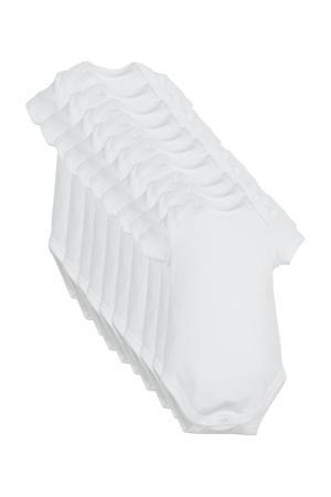 romper van biologisch katoen - set van 10 wit