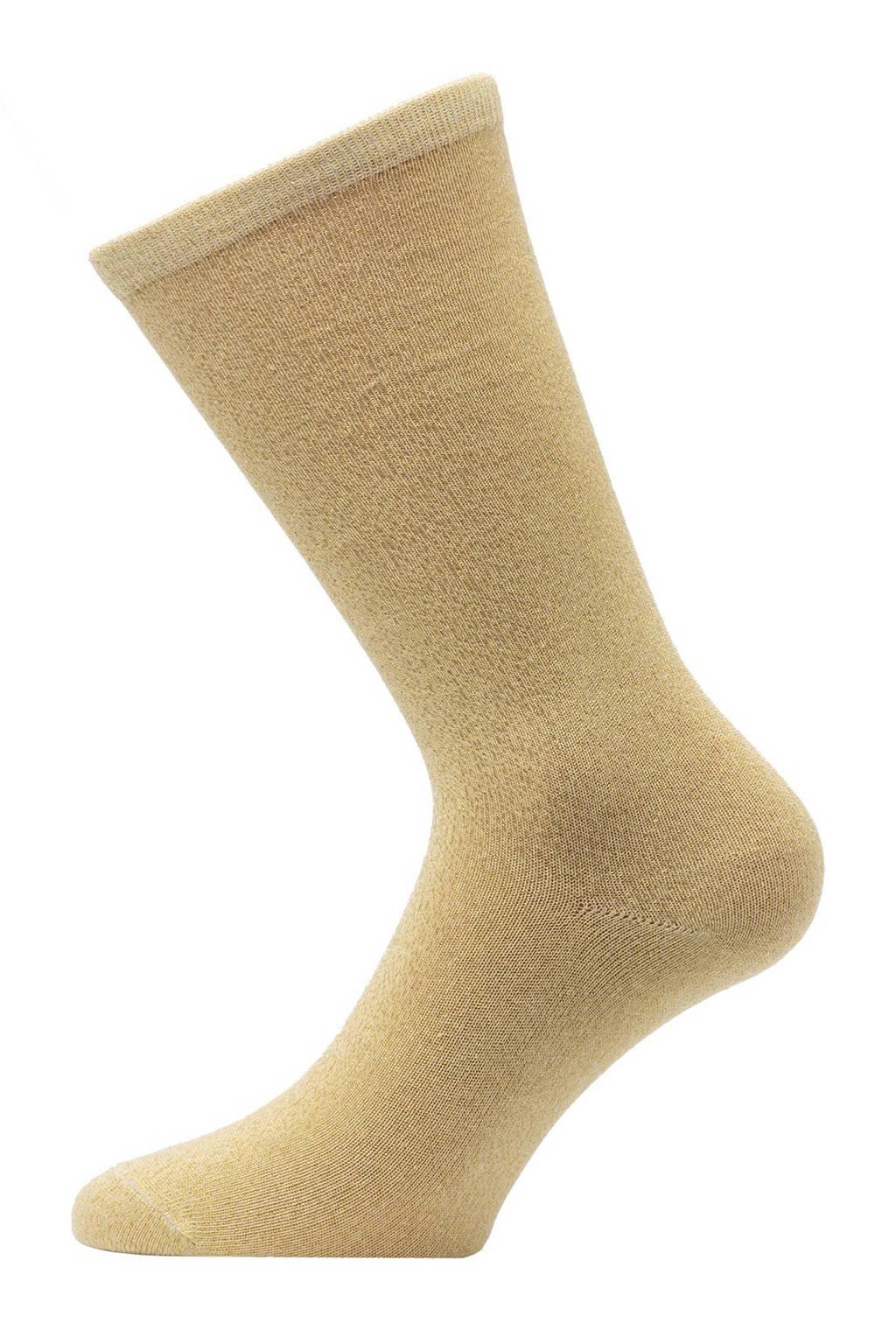 Pinned by K lurex sokken geel, Geel