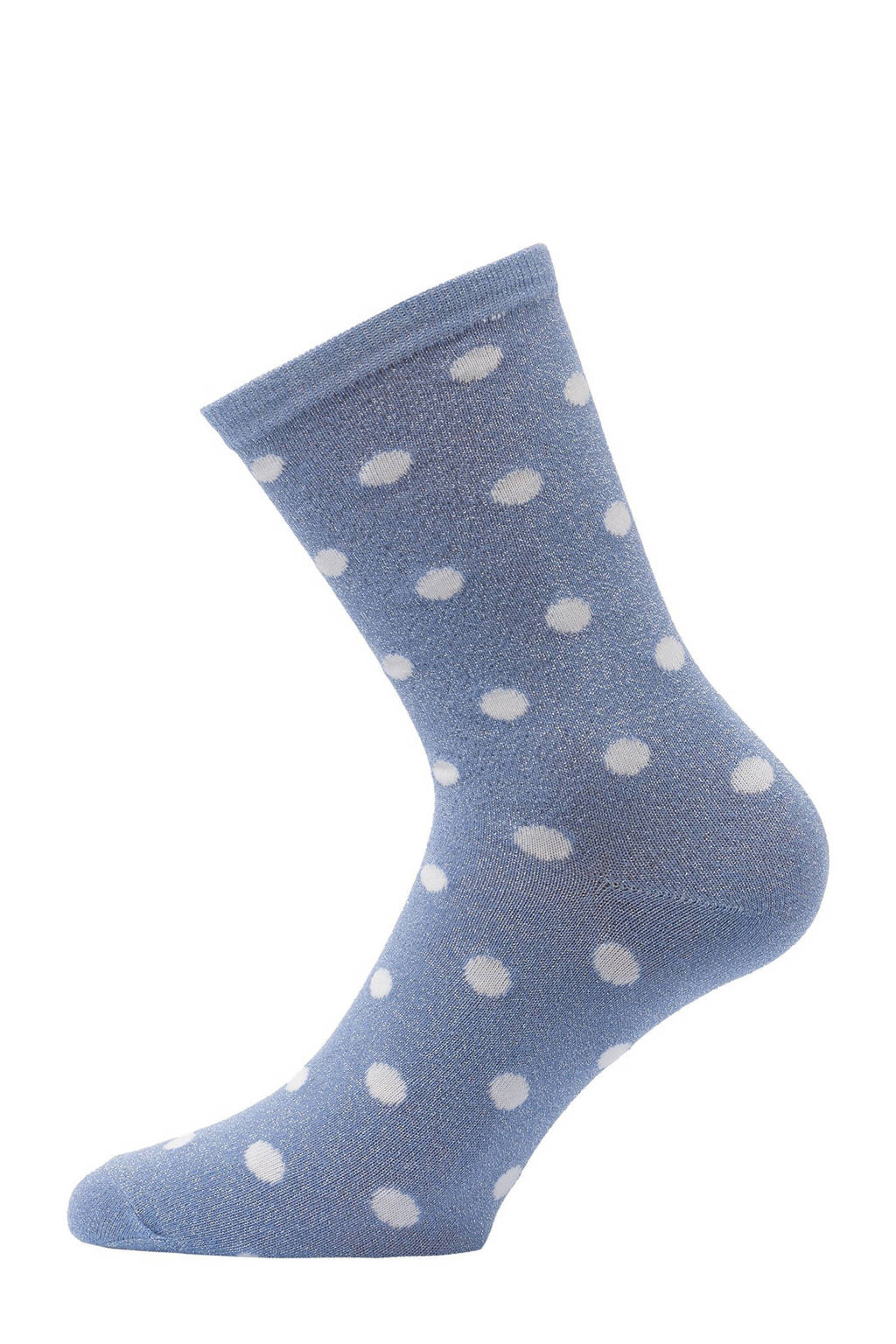 Pinned by K lurex sokken met stippen blauw, Blauw